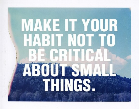 make it a habit not to be