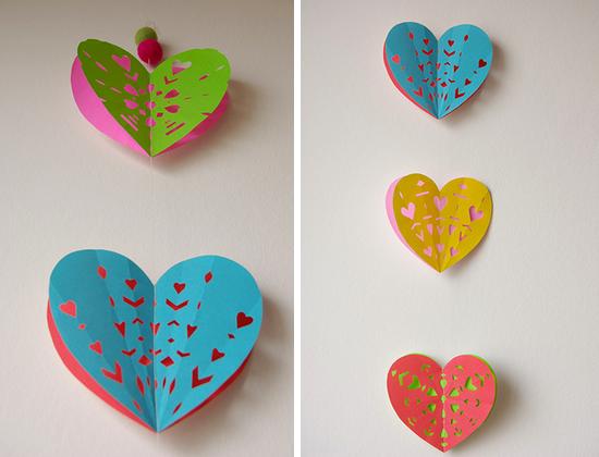 Valentine DIY: Heart Paper Garland - Paper and Stitch