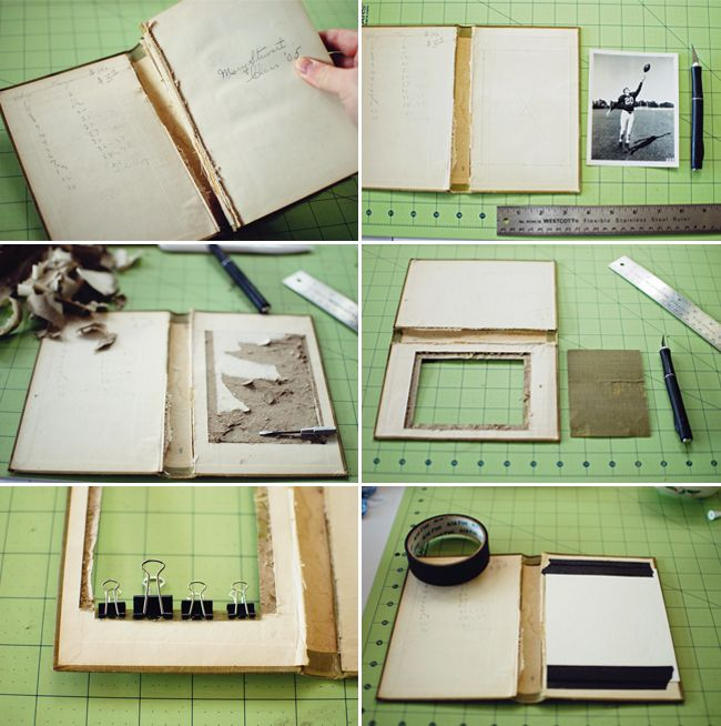 New DIY Craft Project: How to Make a Book Picture Frame - Paper and ...
