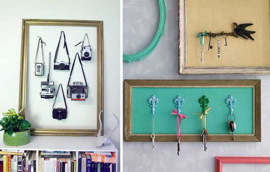 Diy Ideas Uses For Old Picture Frames Paper And Stitch