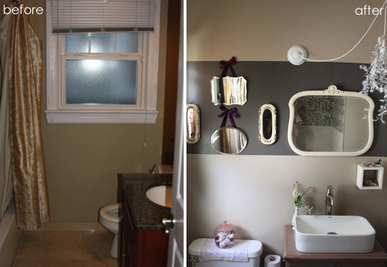 before & after: romantic bathroom re-do - paper and stitch