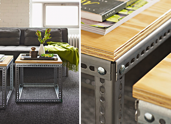DIY How to Make an Industrial Side Table Paper and Stitch