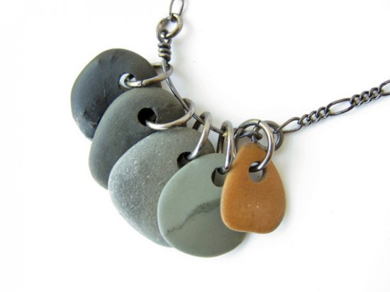 make this drilled natural stone jewelry tutorial paper