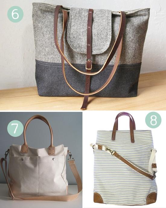 clearance designer handbags 6tjn  Handmade Work Bag Round Up