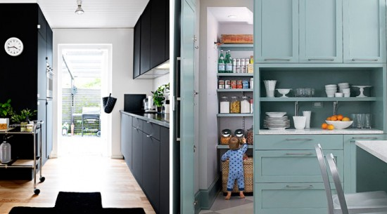 Interior Obsessions - the Painted Kitchen - Paper and Stitch