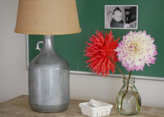 Make This Faux Mercury Glass Lamp Paper And Stitch