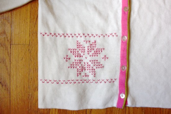 Make This: Embroidered Fair Isle Sweater DIY - Paper and Stitch