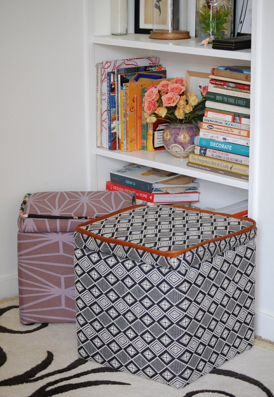 Make This Custom Storage Ottoman DIYPaper and Stitch