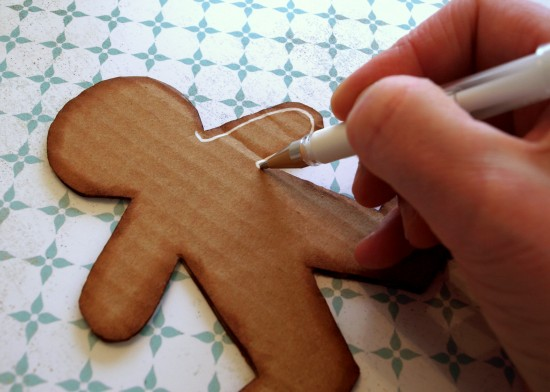 Diy Gingerbread Man Decoration Paper And Stitch