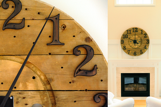 Industrial Wooden Spool Clock Diy Paper And Stitch