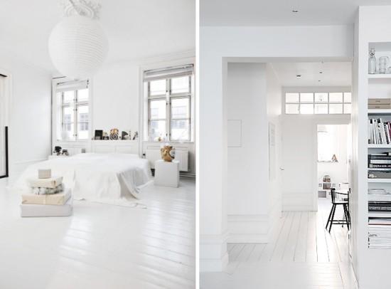 (above) White Wood Floors