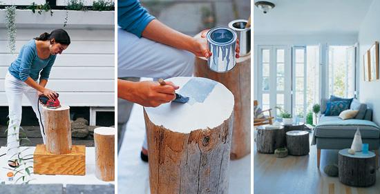 diy wood stump projects