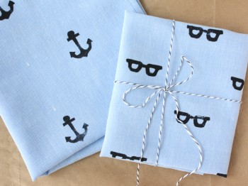 Craft Ideas Vintage Handkerchiefs on Handkerchief For Dad Hand Stamped Handkerchief     Paper   Stitch