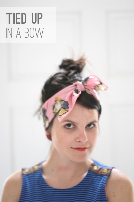 6 ways to style a silk scarf paper and stitch 1 tied up in a bow how to ccuart Gallery