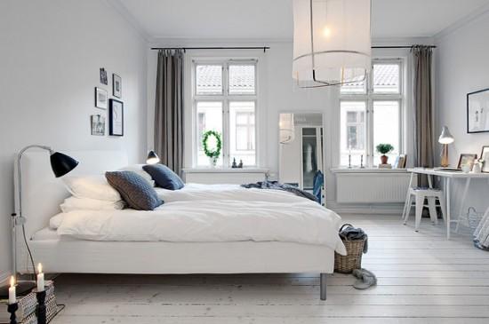 Bedroom Inspiration Paper and Stitch : Swedish apartment 11 550x365 from www.papernstitchblog.com size 550 x 365 jpeg 43kB