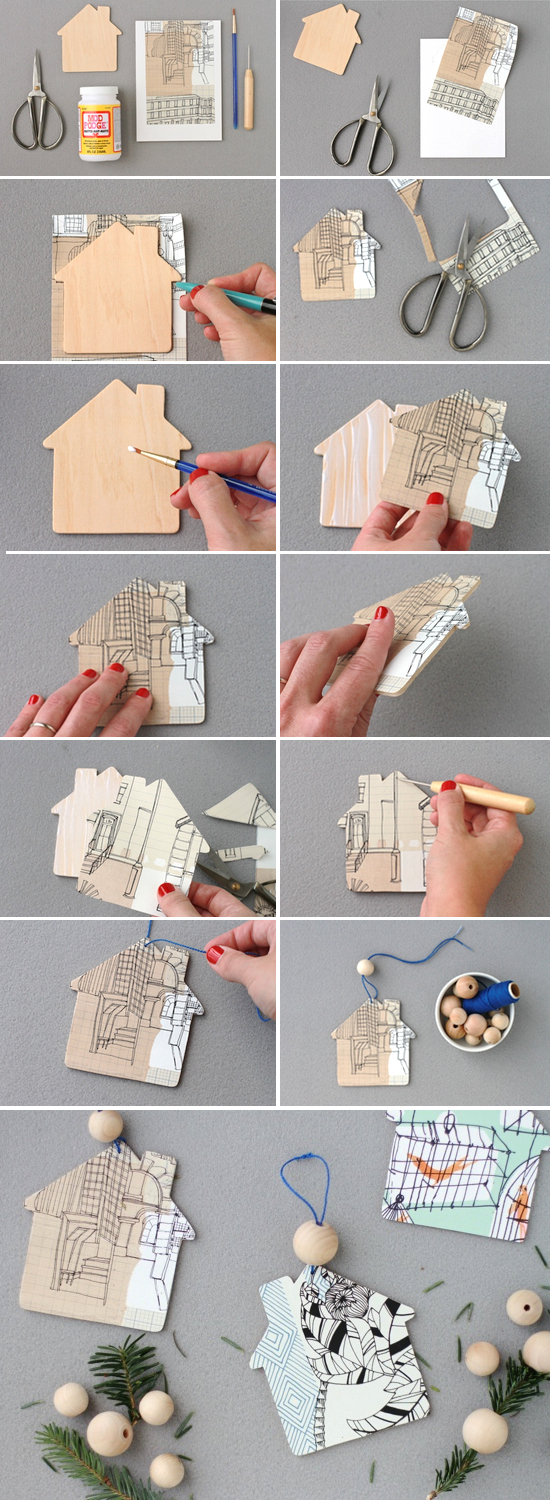 Holiday Diy To Try Home Sweet Home Ornaments Paper And Stitch