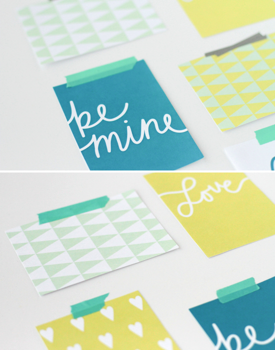 Print This: Modern V-Day Art Print Greeting Cards (Free Download ...