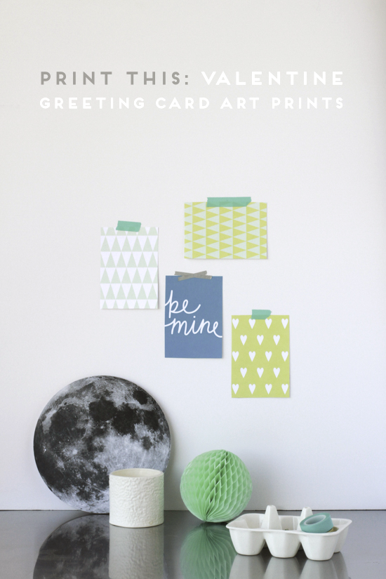 print this modern vday art print greeting cards free download, Greeting card