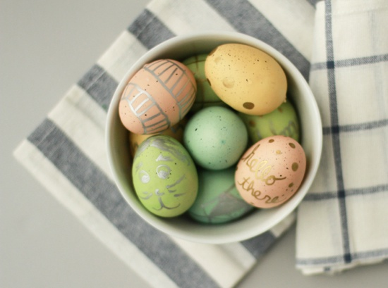 Metallic Egg Art Easter DIY