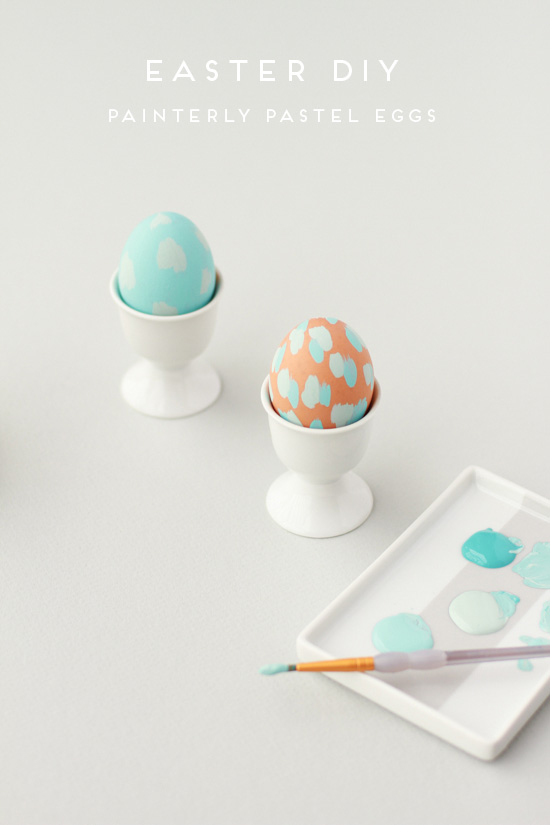 painted pastel easter eggs