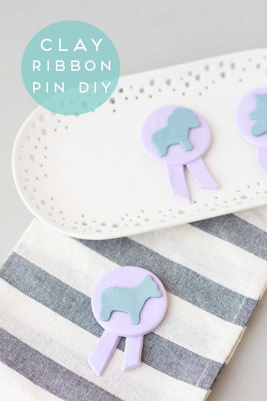 clay-ribbon-pin-diy