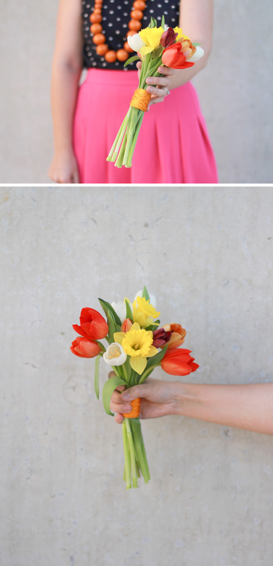 finished-tulips-daffodils-bouquet-diy