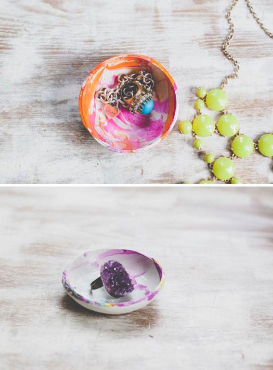mini clay bowls diy