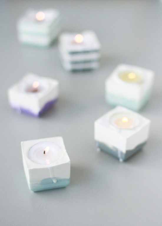 Modern DIY Candle Votives on a Budget