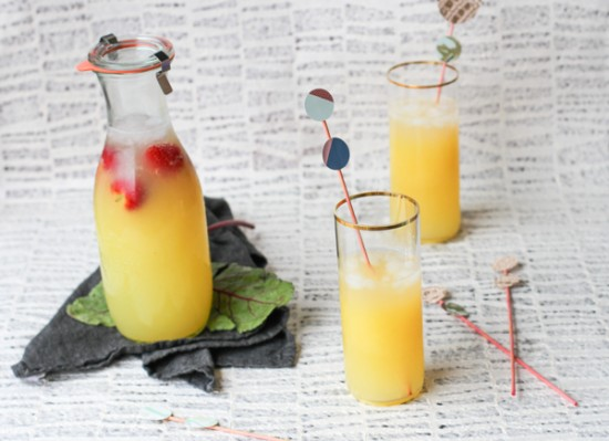 Summer DIY // beet dyed drink stirrers