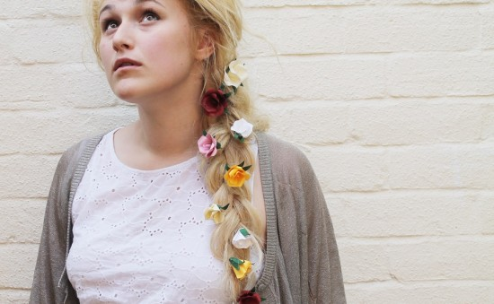 DIY // paper flower hair accessories