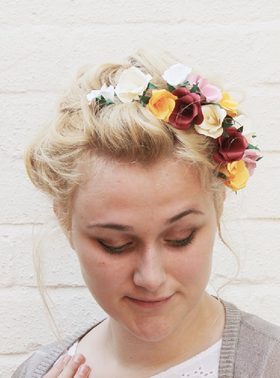 DIY // paper flowers hair tutorial