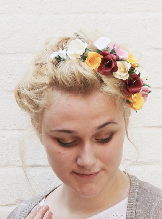 DIY // paper flowers hair tutorial