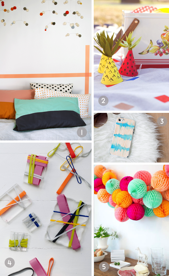DIY roundup // colorful craft projects