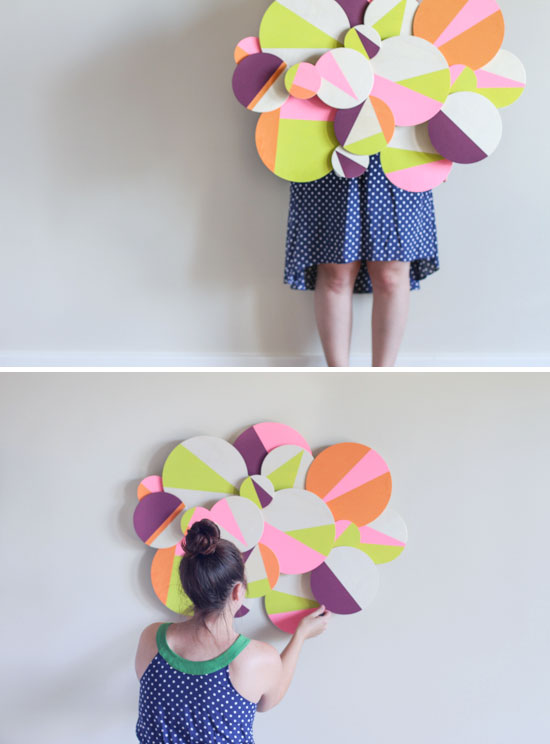 DIY // neon cloud wall art & Make This: Wood Geo Cloud DIY - Paper and Stitch