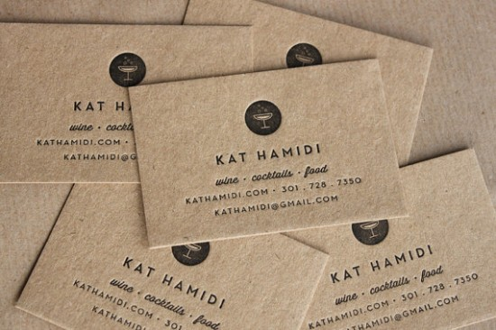 business cards // kraft + letterpress