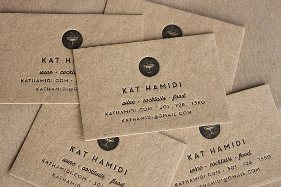 Bring it more business card inspiration paper and stitch business cards kraft letterpress reheart Image collections