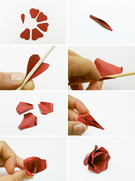 DIY // paper flower step by step