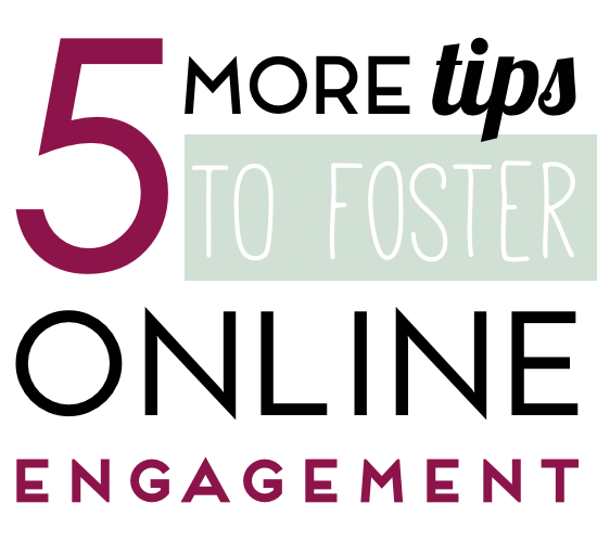 tips for online engagement