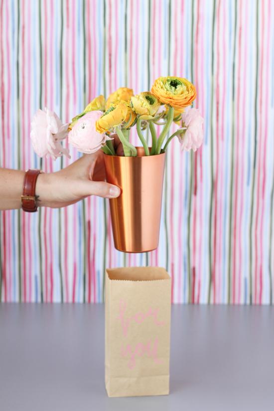 paper sack vase