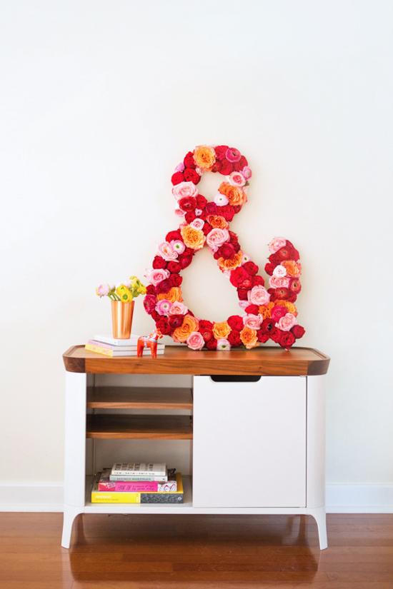 DIY // flower ampersand home decor project