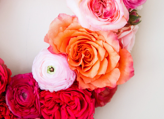 pinks, oranges, and reds