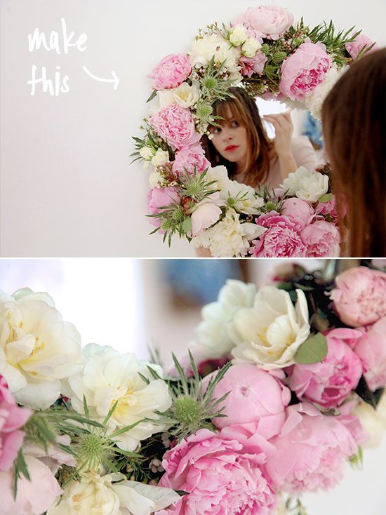 make this // fresh flower mirror diy