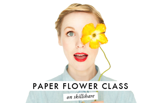 paper flower class on skillshare
