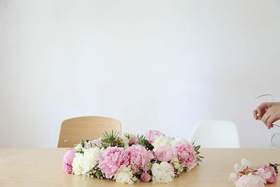 flower set up