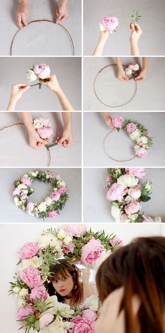 DIY // how to make a fresh flower mirror