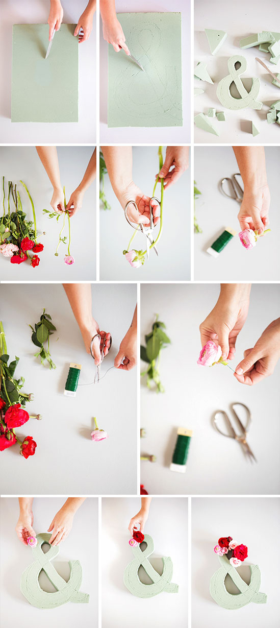 step by step: diy flower ampersand