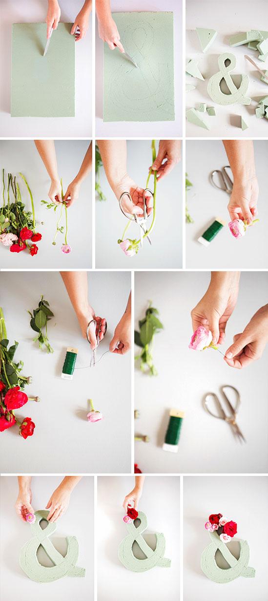 step by step: diy flower ampersand