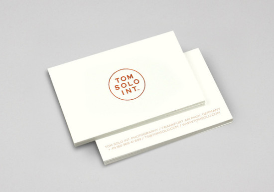 clean, minimal business cards