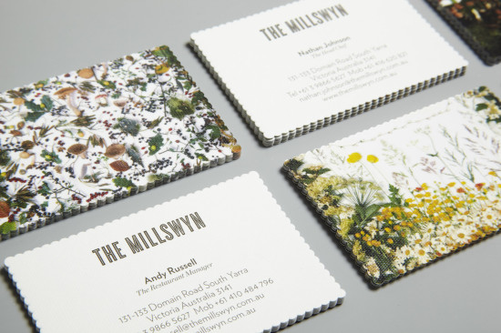 scallop edge business cards