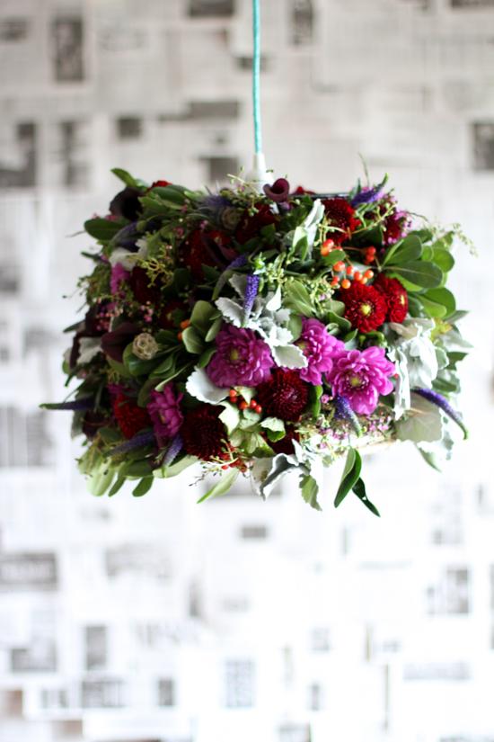 diy-flower-pendant-light